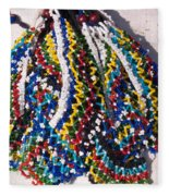 Colorful Beads Jewelery Fleece Blanket