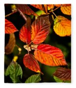 Colorful Blackberry Leaves 1 Fleece Blanket