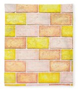 Colorful Brick Wall Fleece Blanket