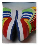 Colorful Clown Shoes Fleece Blanket