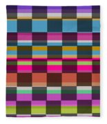 Colorful Cubes Fleece Blanket