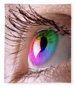 Colorful Eye Fleece Blanket