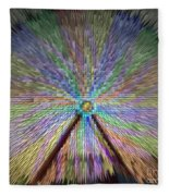 Colorful Fair Wheel Fleece Blanket