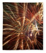 Colorful Fireworks Fleece Blanket