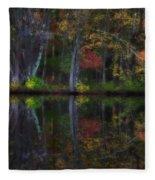 Colorful Forest Fleece Blanket