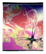 Colorful Frost Fractal 126 Fleece Blanket