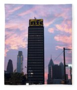 Colorful Morning Sky In Philly Fleece Blanket