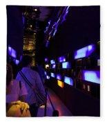 Colorful Passage Inside The Singapore Flyer Fleece Blanket