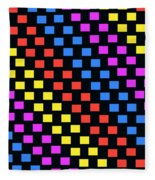 Colorful Squares Fleece Blanket