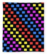 Colorful Squares Fleece Blanket