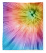 Colorful Starburst Tie Dye  Fleece Blanket