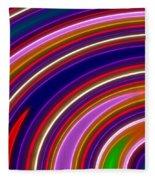 Colorful Swirls Fleece Blanket