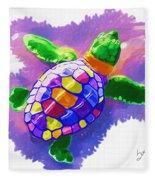 Colorful Turtle Fleece Blanket