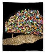 Colorful Welded Steel Encaustic On Wood Sculpture Fleece Blanket