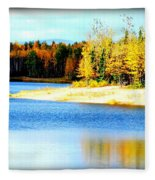 Colors At Chena Ll Fleece Blanket