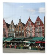 Colors Of Brugge Fleece Blanket