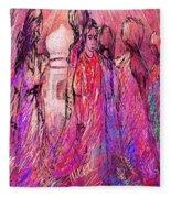 Colors Of India Fleece Blanket