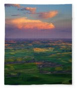 Colors Of The Palouse Fleece Blanket