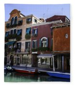 Colors Of Venice Fleece Blanket
