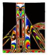 Colourful Geometry Fleece Blanket