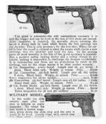 Colt Automatic Pistols Fleece Blanket