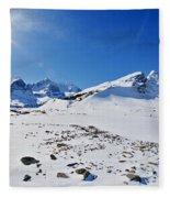 Columbia Icefield In Winter, Jasper Fleece Blanket
