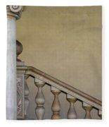 Column And Stairway At Wawel Castle In Krakow Poland Fleece Blanket