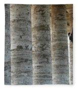 Columns And Hanging Lamp Fleece Blanket