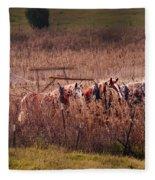 Combining Soybeans Fleece Blanket