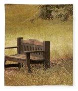 Come And Sit A Spell Fleece Blanket