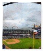 Comerica Park Home Of The Detroit Tigers Fleece Blanket