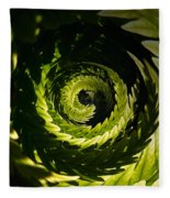 Common Polypody Swirl Fleece Blanket