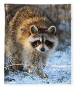 Common Raccoon Fleece Blanket