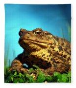 Common Toad Fleece Blanket