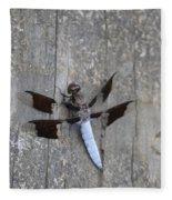 Common White Tail Dragonfly Fleece Blanket