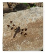 Common Whitetail Dragonfly Fleece Blanket