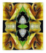 Compassion - Card X From The Tarot Of Flowers Fleece Blanket