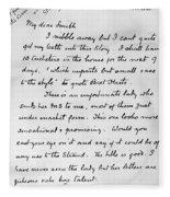 Conan Doyle: Letter Fleece Blanket