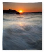 Concealed By The Tides Fleece Blanket