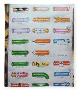 Condom Compendium Sign Thailand Fleece Blanket