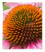 Cone Flower 7 Fleece Blanket