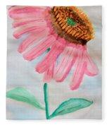 Coneflower - Watercolor Fleece Blanket