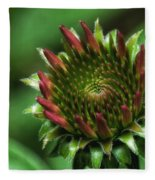Coneflower Close-up Fleece Blanket