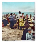 Coney Island: Beach, C1902 Fleece Blanket