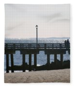 Coney Island Coast Fleece Blanket