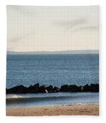 Coney Island Coastline Fleece Blanket