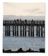Coney Island Pier Fleece Blanket