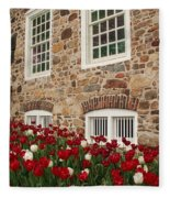 Conference House In Tottenville Fleece Blanket