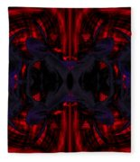 Conjoint - Crimson And Royal. Fleece Blanket