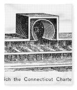 Connecticut: Charter Box Fleece Blanket